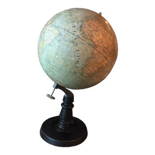 Early 20th Century French Plaster Globe For Sale