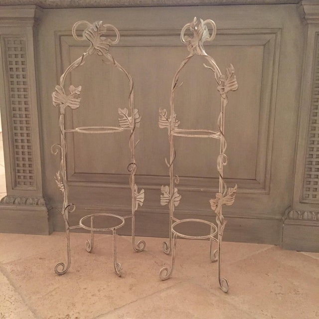 White Two-Tier Pastry Display Racks - A Pair - Image 3 of 7