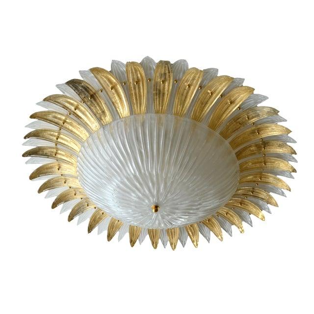 Modern Italian Murano Glass Palm Leaves Chandelier - Image 1 of 4