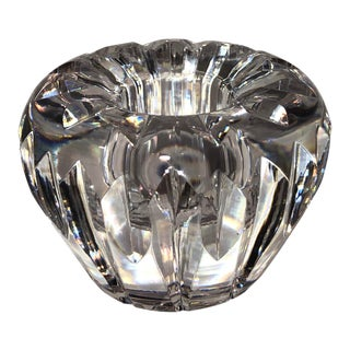 Vintage Waterford Candle Holder Cut Crystal Light Catching For Sale