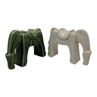 Vintage Hermes Inspired Vintage Horse Sculptures - a Pair For Sale