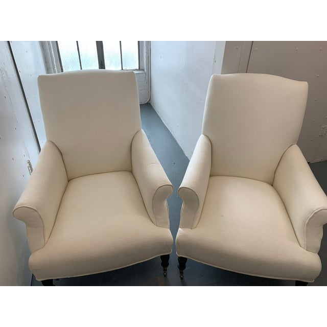 White Contemporary Williams Sonoma Home Upholstered Occasional Chairs - a Pair For Sale - Image 8 of 11