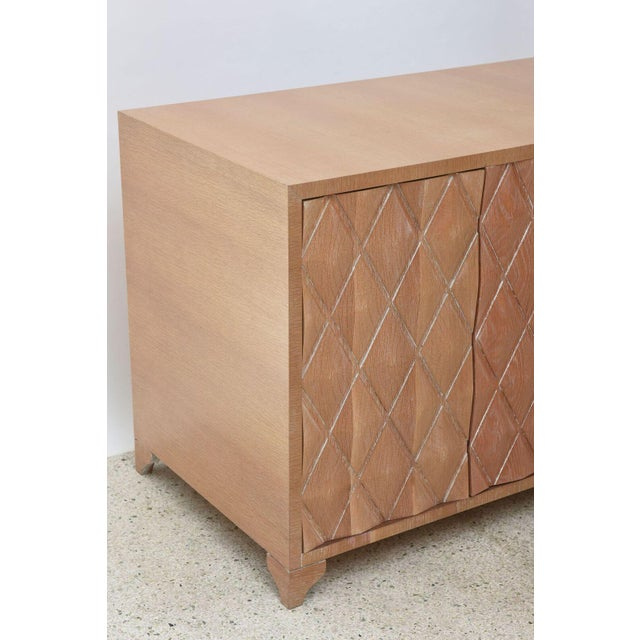 Cerused Oak Four-Door Buffet or Credenza, Jamie Herzlinger For Sale - Image 10 of 11