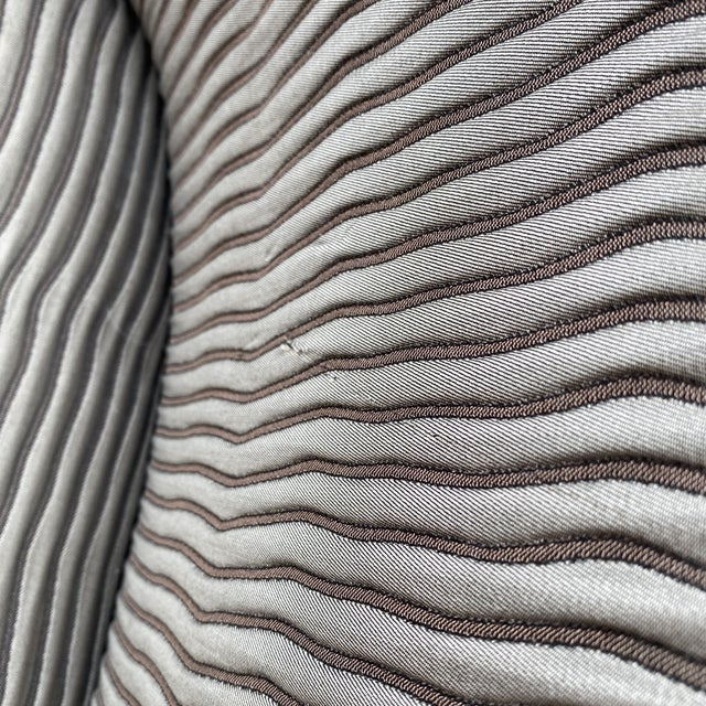 John Hutton for Donghia Plato Mod Barrel Chairs - a Pair For Sale - Image 12 of 13
