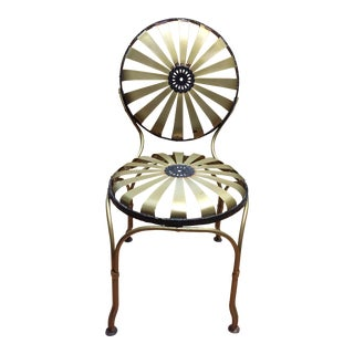 Art Deco Style French Garden Chair For Sale