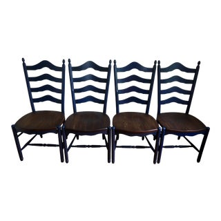 Farmhouse Style Ladder Back Dining Room Chair - Set of 4