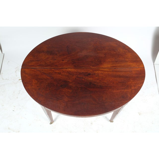 Metal French Louis XVI Style Oval Mahogany Center Table For Sale - Image 7 of 10