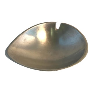 Mid Century Modern Teardrop Shaped Metal Ashtray For Sale