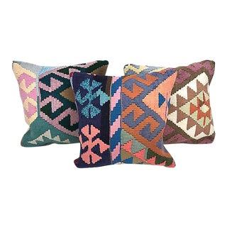 Turkish Kilim Throw Pillow- Set of 3