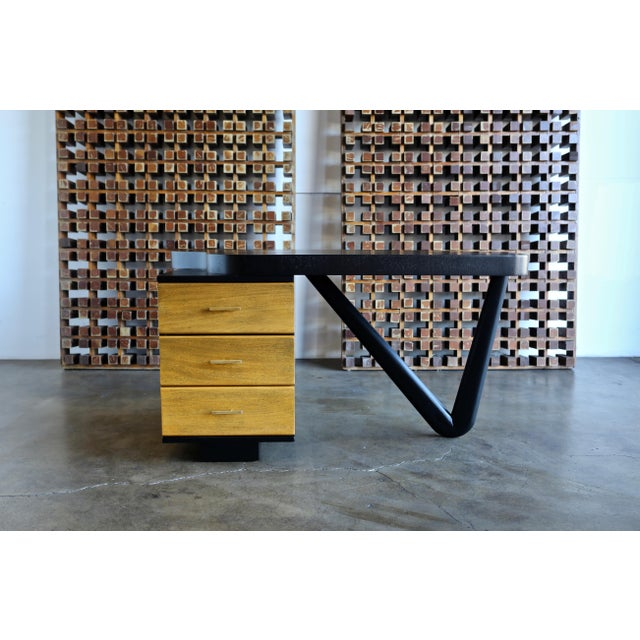 Rare desk by Paul Frankl for Johnson Furniture Co. This piece has been professionally restored.