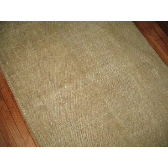 Vintage Taupe Turkish Rug For Sale - Image 4 of 4