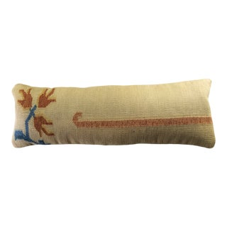 Vintage Kilim Rug Lumbar Pillow Cover For Sale