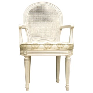 French Caned Armchair For Sale