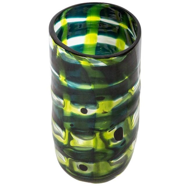 Mid-Century Modern Swedish Ann Wahlstrom Green Glass Vase For Sale
