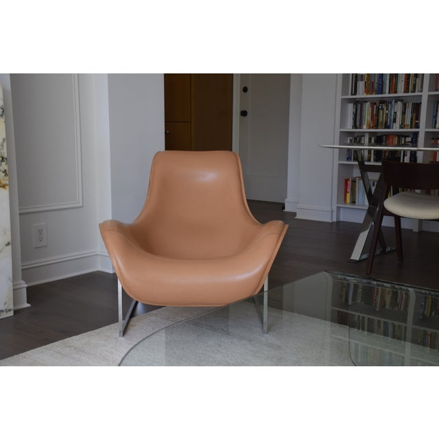 B&b Italia Leather Mart Chair For Sale - Image 9 of 12