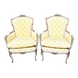 Vintage Regency Armchair Fautieuls- a Pair For Sale