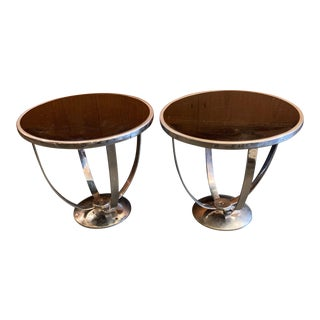 Machine Age Wolfgang Hoffmann for Howell Side Tables - a Pair For Sale