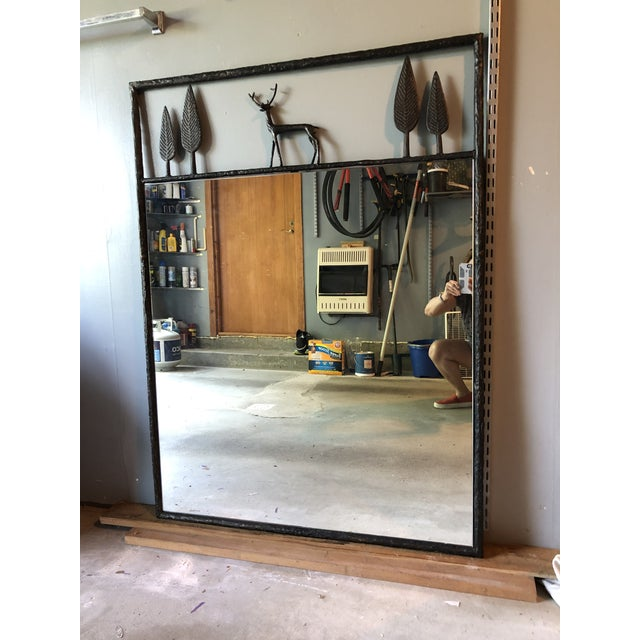 Carole Gratale Giacometti-Inspired Stag Mirror For Sale - Image 4 of 4