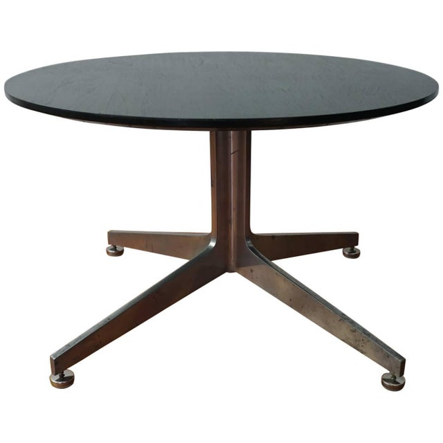 Metal Ward Bennett Column X Table for Lehigh Furniture Company For Sale - Image 7 of 7