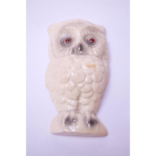 Circa 1950s American painted chalkware owl. These figurines date back as far as the 1800s and were often used as carnival...