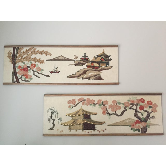 Mid-Century Asian Art Collages - a Pair For Sale - Image 4 of 4