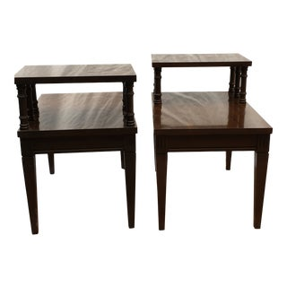 Mersman Mid-Century Mahogany Side Tables - a Pair