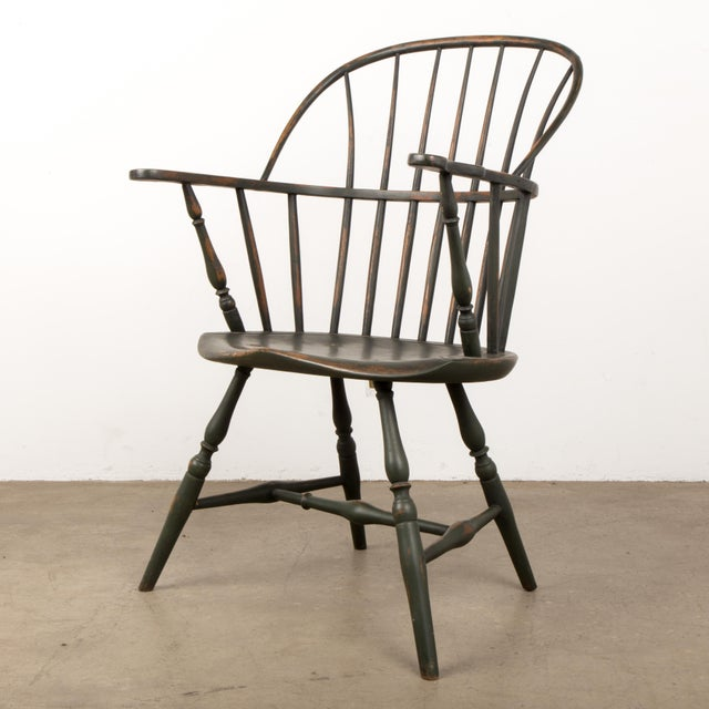 18th Century Antique Windsor Chair With Extended Arms For Sale - Image 13 of 13