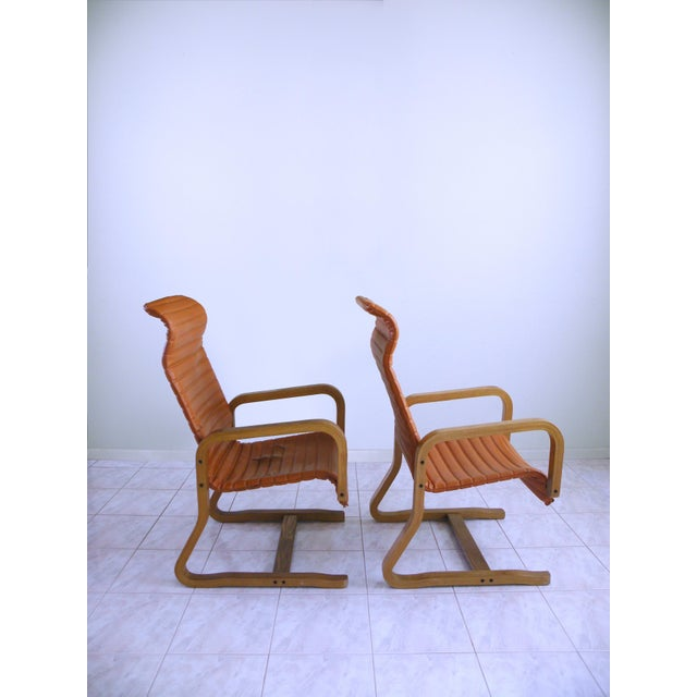 Mid-Century Modern Thonet Bentwood Cantilever Lounge Chairs - a Pair For Sale In Chicago - Image 6 of 10