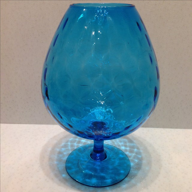 Blue Optic Glass Murano Vases - A Pair - Image 5 of 11