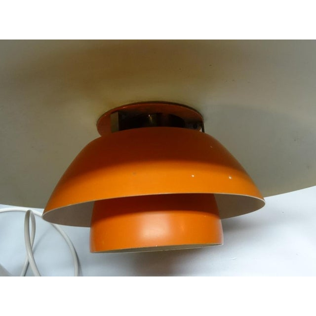 1950s Orange PH 4/3 hanging lamp by Poul Henningsen for Louis Poulsen For Sale - Image 5 of 7