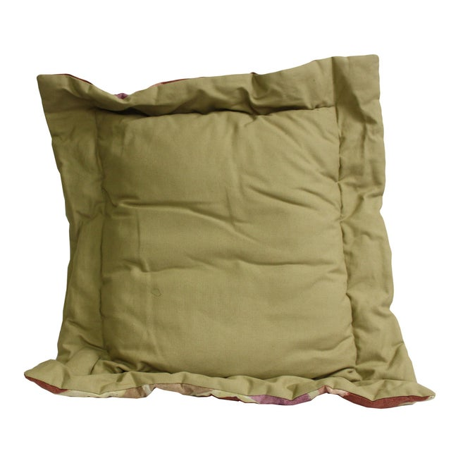 This is a pair of large cushions with square shape. It has color mix with graphic fabric cover - no zipper. Dimensions:...
