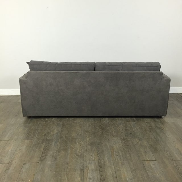 Room & Board Charcoal Suede Sofa - Image 9 of 11