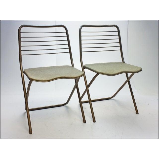 mid century modern cosco metal folding chairs set of 4 chairish