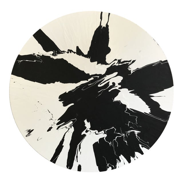 Minimalist Abstract Round Painting For Sale