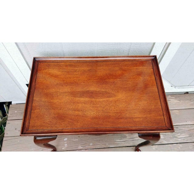 Vintage Traditional Brandt Mahogany Tea Table For Sale - Image 12 of 13