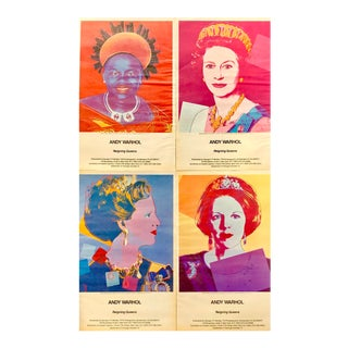 1980s Andy Warhol Queens Advertisements - Set of 4 For Sale