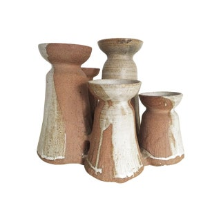 Mid-Century Studio Pottery Candle Holder