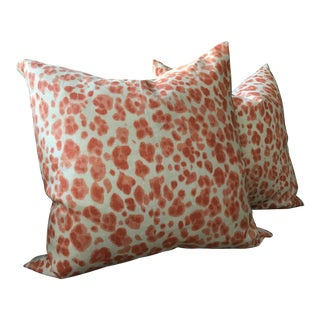"Thibaut ""Panthera"" Down Filled Pillows - a Pair For Sale"