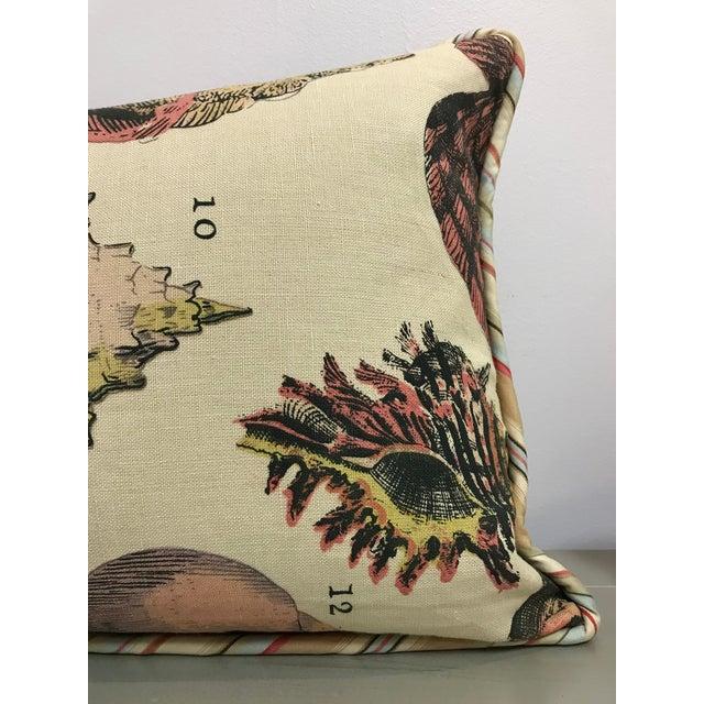 Nautical Specimen Sea Shell Design Decorative Lumbar Throw Pillows - a Pair For Sale - Image 3 of 7