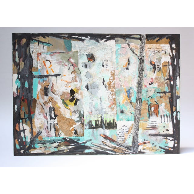 Ralph De Burgos Mixed-Media Abstract Collage For Sale - Image 12 of 12