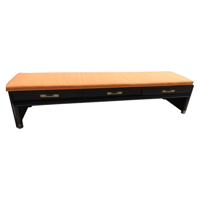 3-Drawer Coffee Table/Bench With Cushion - Image 1 of 11