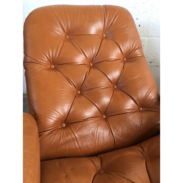Vintage Mid-Century Modern Reclining Chair By Ekornes Stressless (A Pair) - Image 9 of 11