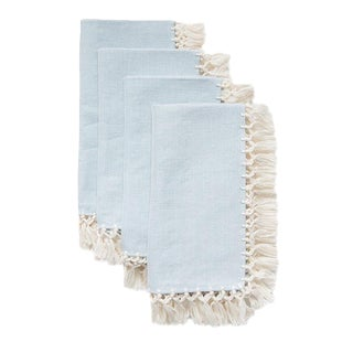 Serenity Sencillo Napkins (Set of 4) For Sale