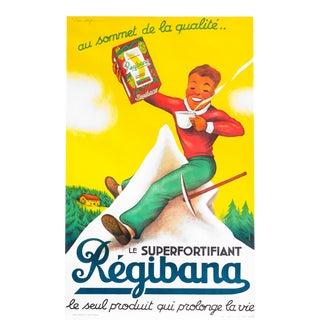 1930s Original Art Deco French Regibana Poster For Sale