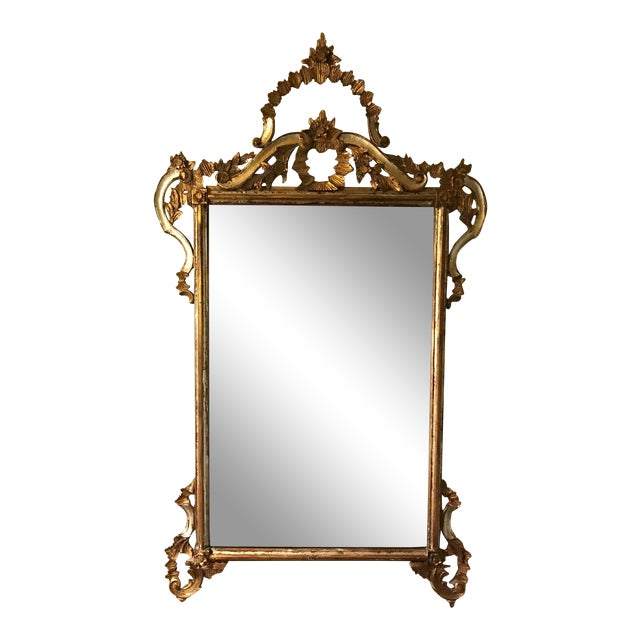1900s Argentinian Gold Leaf Mirror For Sale