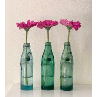 Vintage Codd Neck Soda Bottles W/ Marble Stoppers - Set of 3 Preview