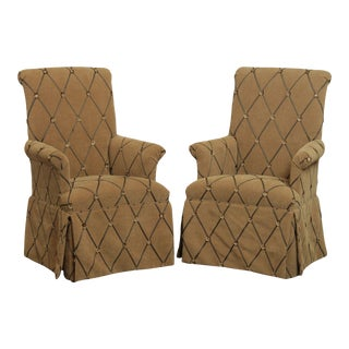 Quality Custom Upholstered Host Armchairs - a Pair For Sale