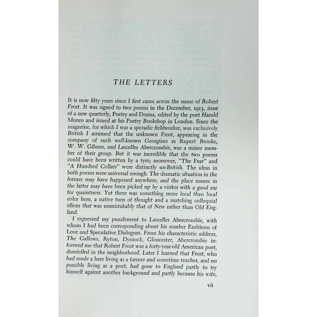 The Letters of Robert Frost to Louis Untermeyer by Robert Frost. New York & Chicago: Holt, Rinehart and Winston, 1963....