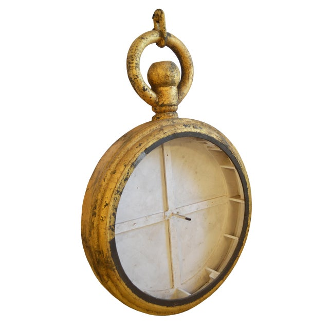 Vintage Clock Trade Sign For Sale