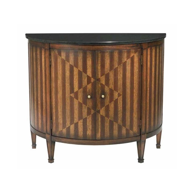Continental Demilune Cabinet Console Table - Image 1 of 3
